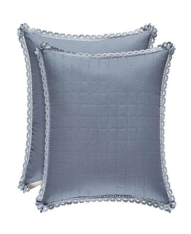 "Piper & Wright Braylee Indigo 18"" Square Pillow"