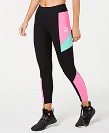 Puma Retro Ribbed Colorblocked Leggings