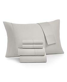 Norvara Solid 500 Thread Count 6-Pc. California King Sheet Set