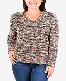 NY Collection Plus Size V-Neck Sweater