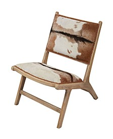 Organic Modern Hairon Leather Lounger