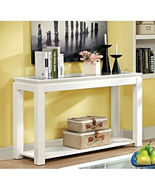 Kristof Glossy White Console Table
