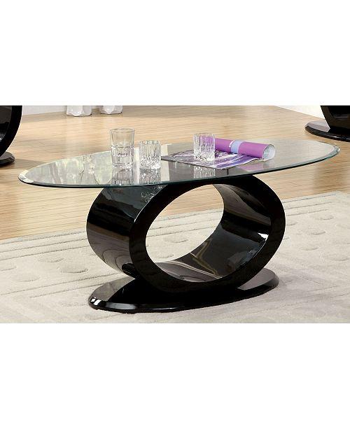 Furniture of America Mason Black Coffee Table