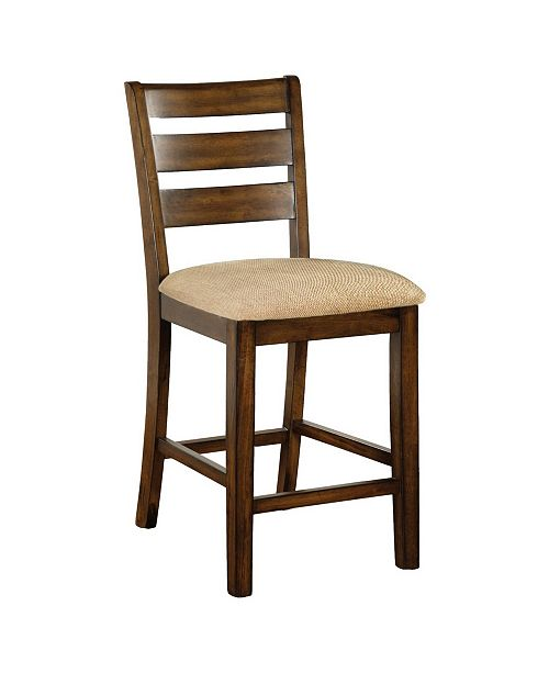 Furniture Nessa Antique Oak Counter Stool (Set of 2)