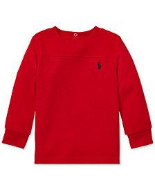 Polo Ralph Lauren Baby Boys Waffle-Knit Long-Sleeve T-Shirt