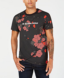 G-Star Raw Men's Floral Logo T-Shirt