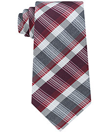 Kenneth Cole Reaction Men's Plaid Stripe Slim Silk Tie