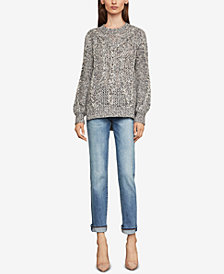 BCBGMAXAZRIA Cable-Knit Sweater
