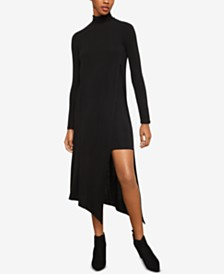 BCBGMAXAZRIA Asymmetrical Turtleneck Dress
