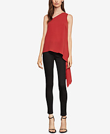 BCBGMAXAZRIA One-Shoulder Asymmetrical Top