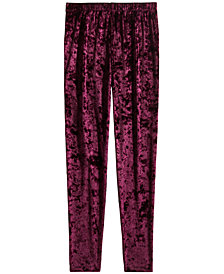 Epic Threads Big Girls Velvet Leggings, Created for Macy's