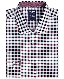 Society of Threads Men's Slim-Fit Performance Stretch Gingham Dress Shirt