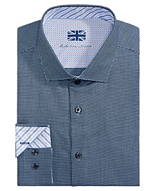 of London Men's Slim-Fit Pattern Dress Shirt