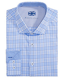 Michelsons of London Men's Slim-Fit Glen Plaid Dress Shirt