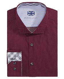 Michelsons of London Men's Slim-Fit Dot Dress Shirt