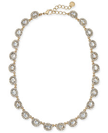 "Charter Club Gold-Tone Crystal Collar Necklace, 17"" + 2"" extender, Created for Macy's"