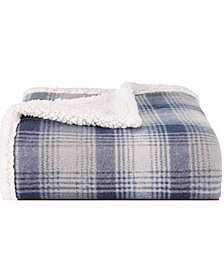 Eddie Bauer Nordic Plaid Midnight Throw