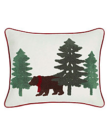 Eddie Bauer Bear Scene Dark Pine Breakfast Pillow