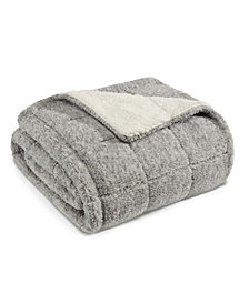 Eddie Bauer Sumac Ridge Sherpa Grey Throw