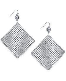 Thalia Sodi Silver-Tone Crystal Mesh Drop Earrings, Created for Macy's