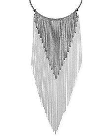 "Thalia Sodi Silver-Tone Crystal Fringe 16"" Statement Necklace, Created for Macy's"