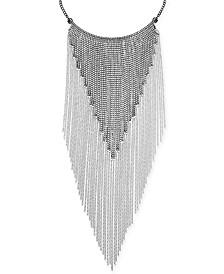 "Thalia Sodi Silver-Tone Crystal Fringe 16"" Statement Necklace, Created for Macy's"