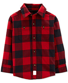 Carter's Toddler Boys Buffalo Plaid Cotton Shirt