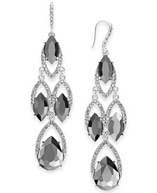I.N.C. Crystal & Stone Chandelier Earrings, Created for Macy's