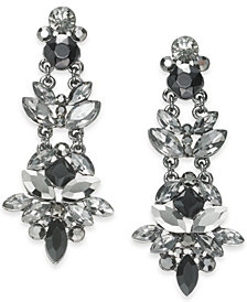 I.N.C. Hematite-Tone Crystal Drop Earrings, Created for Macy's