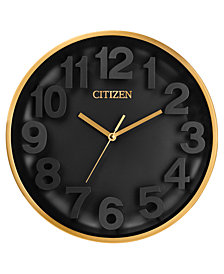 Citizen Gallery Gold-Tone & Black Wall Clock