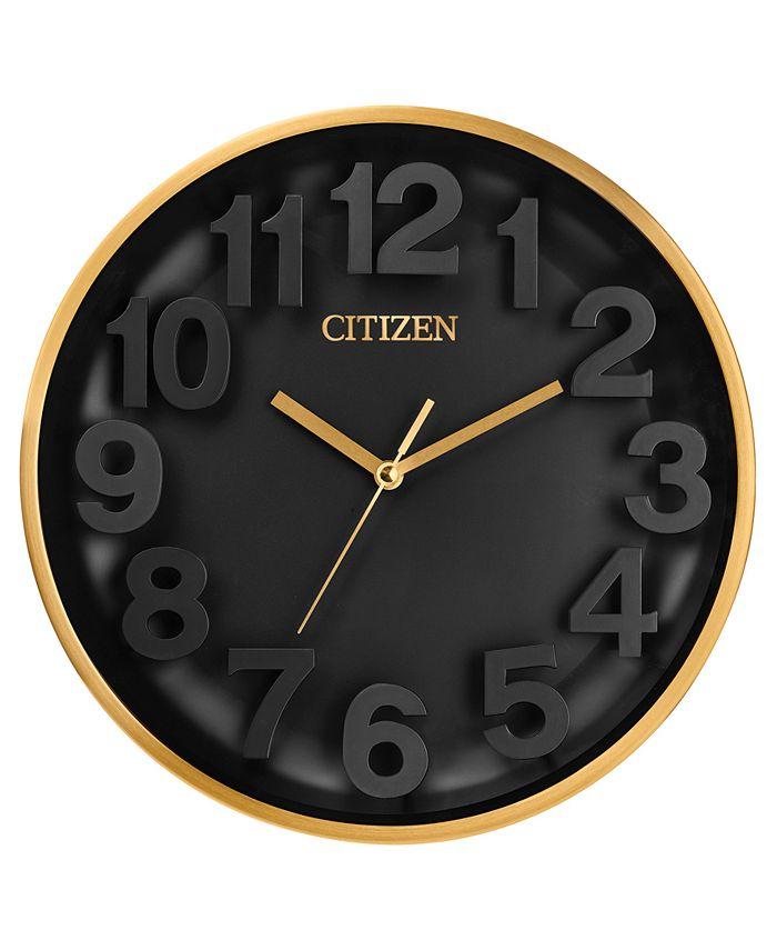 Citizen - Gallery Gold-Tone & Black Wall Clock