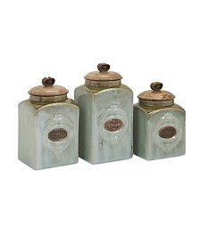 Imax Addison Ceramic Canisters - Set of 3