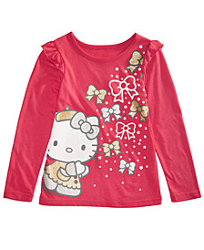 Hello Kitty Little Girls Bow-Print T-Shirt