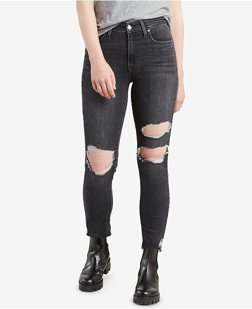 cf36592a8762 Levi's 721 High-Rise Ripped Skinny Jeans & Reviews - Jeans - Juniors ...