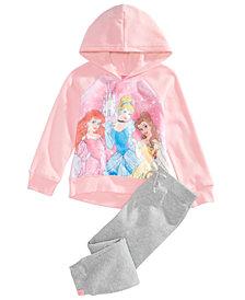 Disney Little Girls 2-Pc. Princesses Hoodie & Pants Set