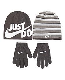 Nike Big Boys 2-Pc. Reversible Beanie Hat & Gloves Set
