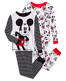 Mickey Mouse Toddler, Little & Big Boys 4-Pc. Cotton Pajama Set