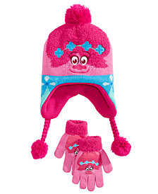 DreamWorks Trolls Toddler Girls 2-Pc. Poppy Heidi Hat & Gloves Set
