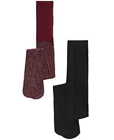 Trimfit Toddler, Little & Bigs Girls 2-Pk. Shimmer Tights