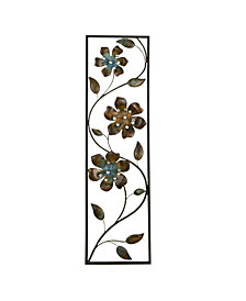 Stratton Home Decor Winding Flowers Wall Decor
