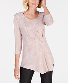 JM Collection Petite Necklace Tunic, Created for Macy's