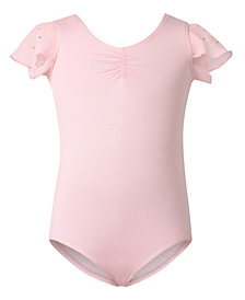 Flo Dancewear Toddler, Little & Big Girls Flutter-Sleeve Leotard