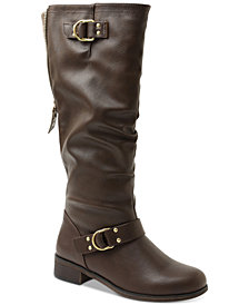XOXO Minkler Wide Calf Riding Boots
