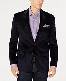 Lauren Ralph Lauren Men's Classic-Fit UltraFlex Stretch Navy Velvet Sport Coat