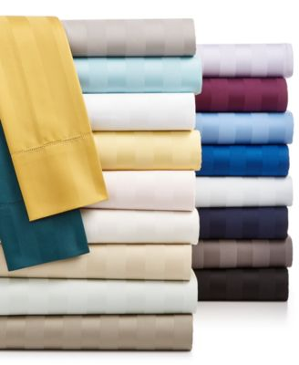 Stripe Queen 4-Pc Sheet Set, 550 Thread Count 100% Supima Cotton, Created for Macy's