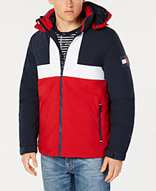 Tommy Hilfiger Men's Colorblocked Ski Jacket with Removable Hood, Created for Macy's