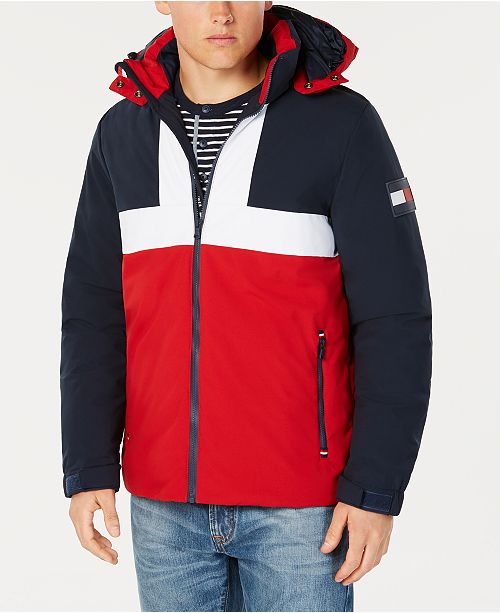 418aee9d22cf Tommy Hilfiger Men's Colorblocked Ski Jacket with Removable Hood, Created  for Macy's ...