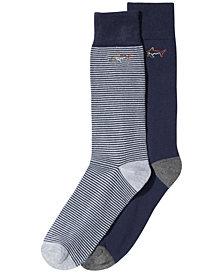 Greg Norman Men's 2-Pk. Striped Dress Socks, Created for Macy's