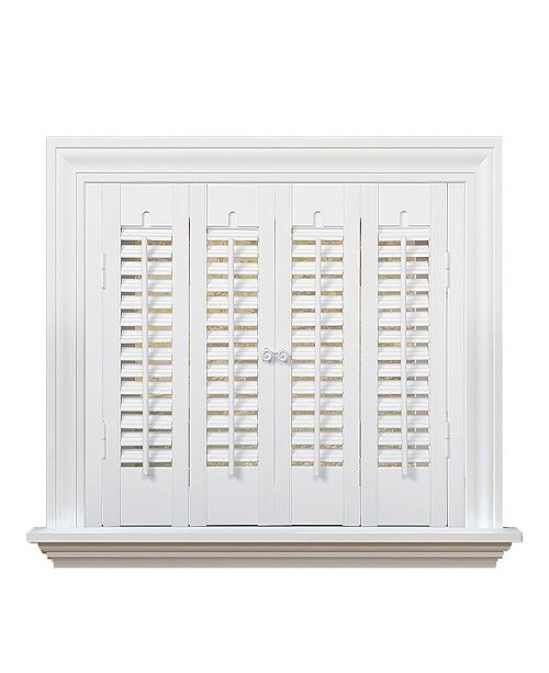 """US Shade & Shutter Traditional Faux Wood Interior Shutter, 35-37""""  W x 24"""""""