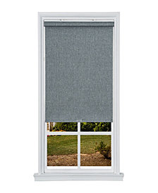 "Cordless Textured Thermal Fabric Roller Shade, 27""  W x 66"""